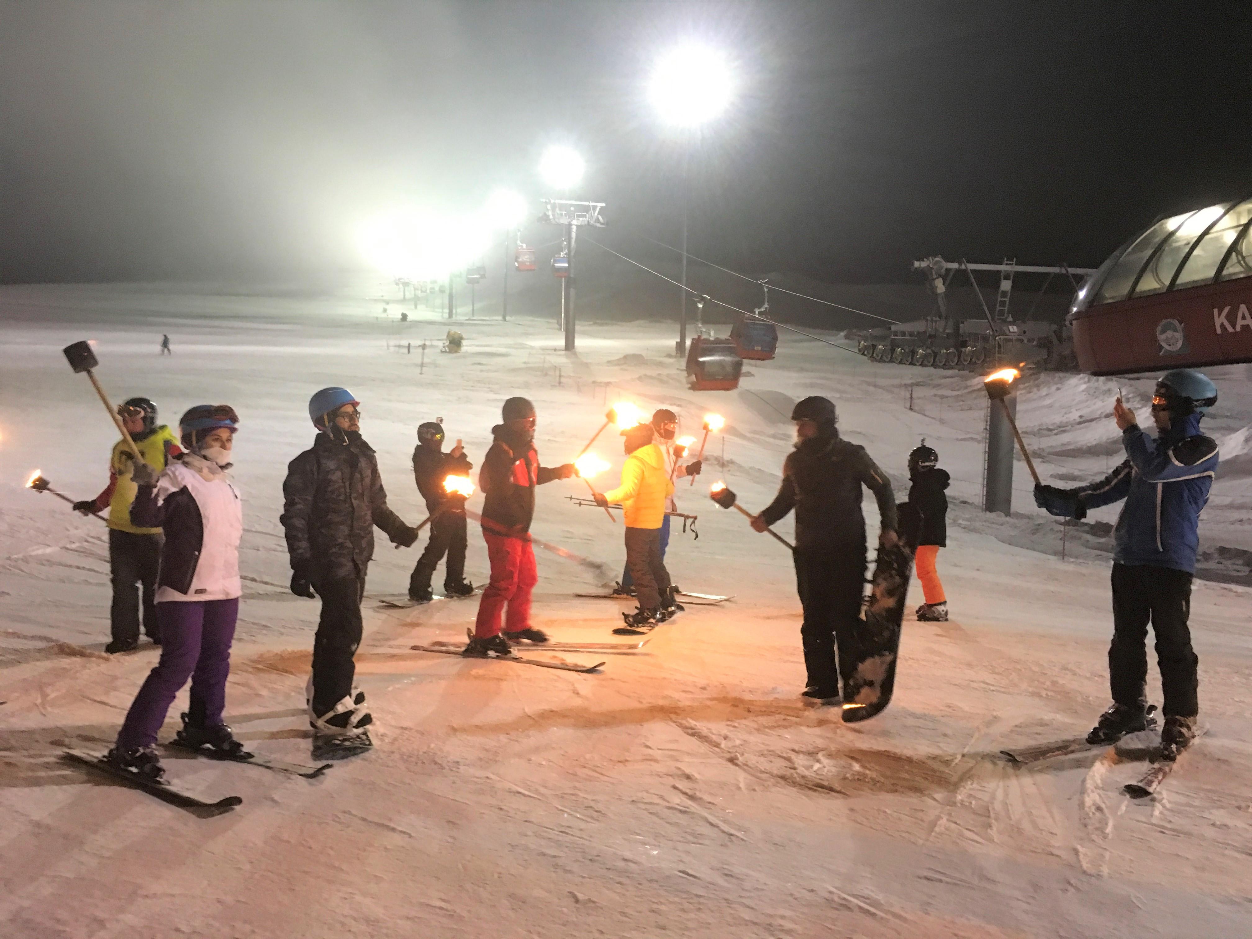 Erciyes, Gece Kayağı