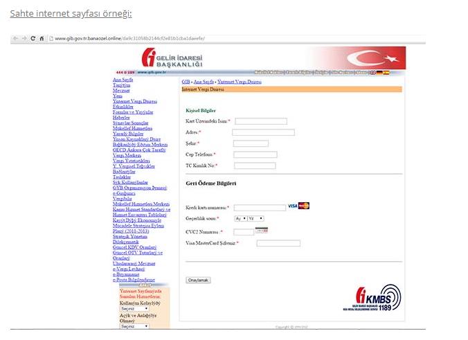 Sahte internet sitesi
