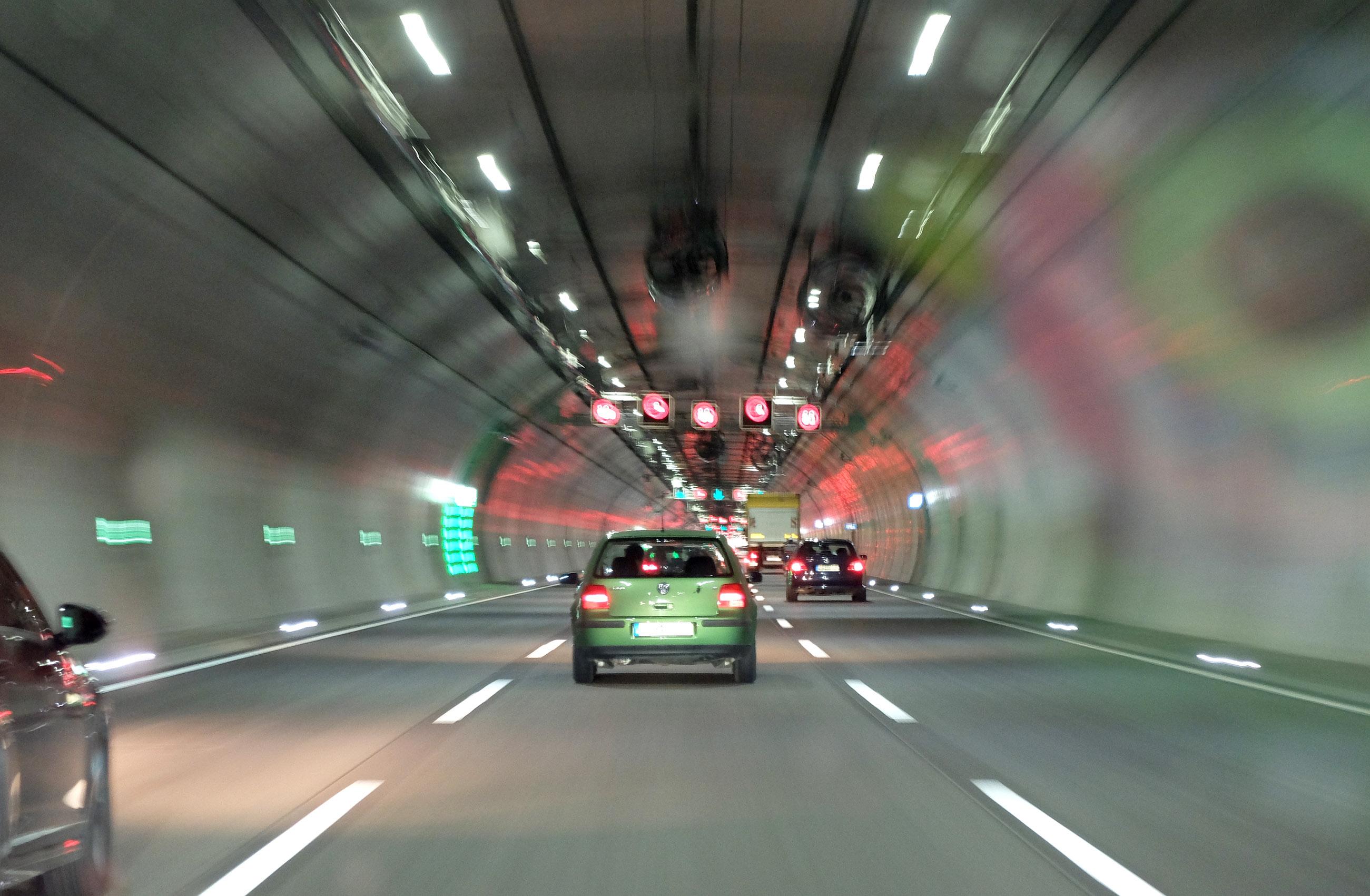 Köprü, araba, yol, tünel