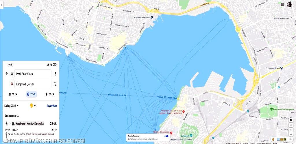 İzmir deniz ulaşımı